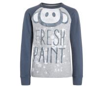 Langarmshirt grey melange/steel blue