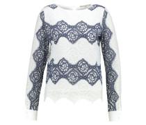 Bluse white/blue