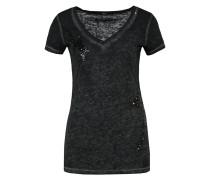 TShirt print mottled black