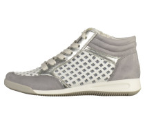 Sneaker high - steel grey, white/silver