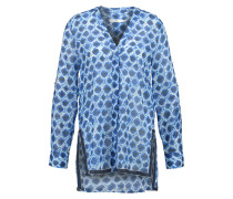 Bluse dunkelblau/weiß