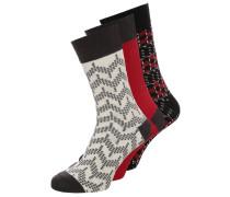 3 PACK Socken black/light grey/dark grey