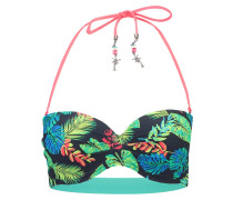 FALLING LEAVES - Bikini-Top - dark blue