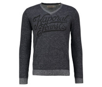 BAKER Strickpullover dark grey melanged