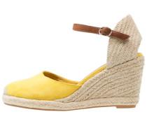 Plateaupumps yellow