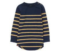 Langarmshirt navy/ochre
