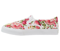 FLORA Slipper white/fuchsia