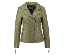 HILLABY Lederjacke dirty green