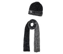 SET Schal black/grey/white