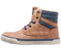 Sneaker high brown/navy