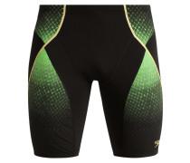 PINNACLE Badehosen Pants black/fluo green/global gold