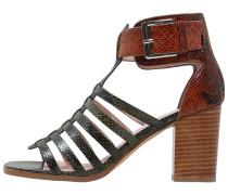 MARLOW High Heel Sandaletten olive/mid brown