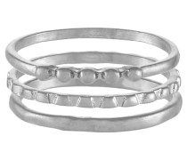 3 PACK SFMOBY - Ring - silver-coloured