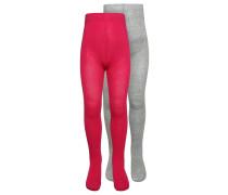 2 PACK Strumpfhose pink rose/light grey melange