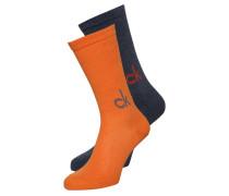 KARL 2 PACK Socken orange crush/denim