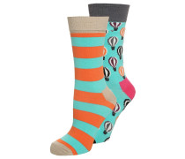 Socken turquoise