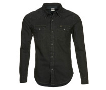 SLIM FIT Hemd pitch black