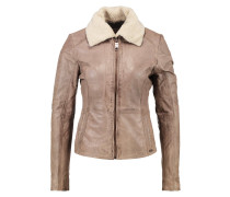 LIMONE Lederjacke light taupe
