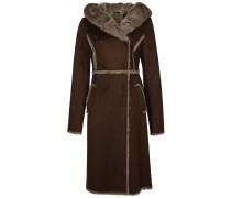 Wollmantel / klassischer Mantel dark brown