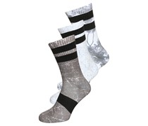 3 PACK Socken white/black/light grey