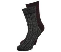 2 PACK Socken merlot/black