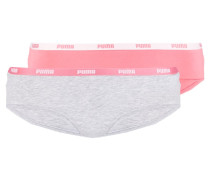 2PACK - Panties - ligt grey melange/hot coral