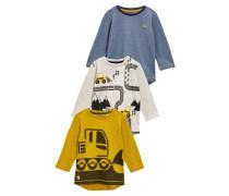 3 PACK Langarmshirt yellow/white/blue