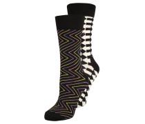 2 PACK - Socken - schwarz/schwarz