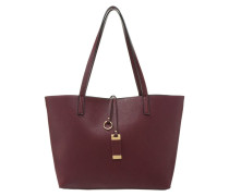 Handtasche burgundy/black