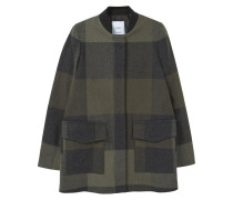 RANA Wollmantel / klassischer Mantel medium green