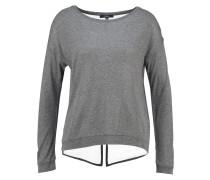 Langarmshirt grey melange