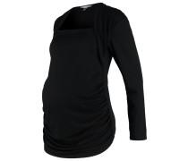 GLOSSY Langarmshirt black