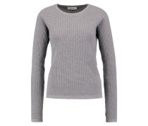 SHELBY Strickpullover grey melange