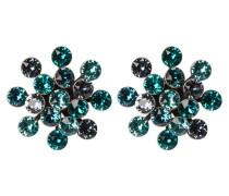 MAGIC FIREBALL - Ohrringe - blue/green antique/silver-coloured