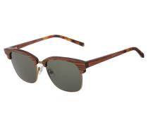ALBERT - Sonnenbrille - rosewood/solid green