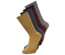 4 PACK Socken burgundy