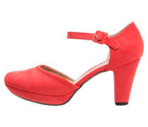 Plateaupumps red