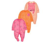 3 PACK - Pyjama - orange/pink