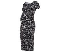 Jerseykleid black/white