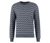 Strickpullover grey blue