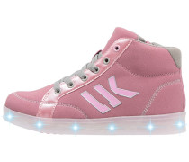 GLOW Sneaker high pink/grey