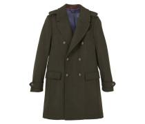 PANONE Wollmantel / klassischer Mantel green
