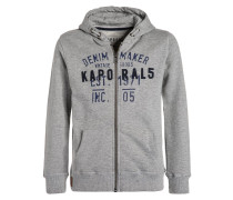 GULT Sweatjacke grey melanged