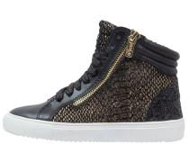 Sneaker high black/gold