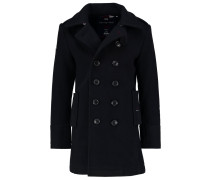 Wollmantel / klassischer Mantel dark charcoal