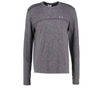 THREADBORNE Langarmshirt carbon heather/black/reflective
