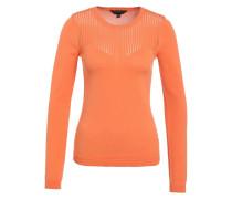 POINTELLE CHEVRON - Strickpullover - orange