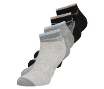 4 PACKS - Socken - grey melange/black