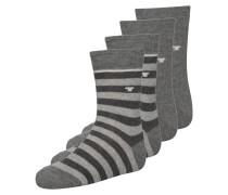4 PACK Socken grey melange
