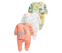 3 PACK Pyjama orange